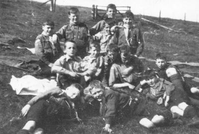 The First Known Picture of the Bonnyrigg Scouts at Heriot in 1915